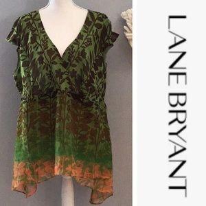 Pretty! Lane Bryant sleeveless floral tunic sz 22
